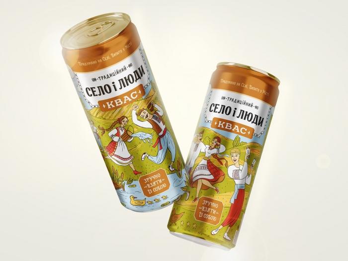 Квас «Село і люди» тепер у банці: насолодіться автентичним смаком у новій упаковці